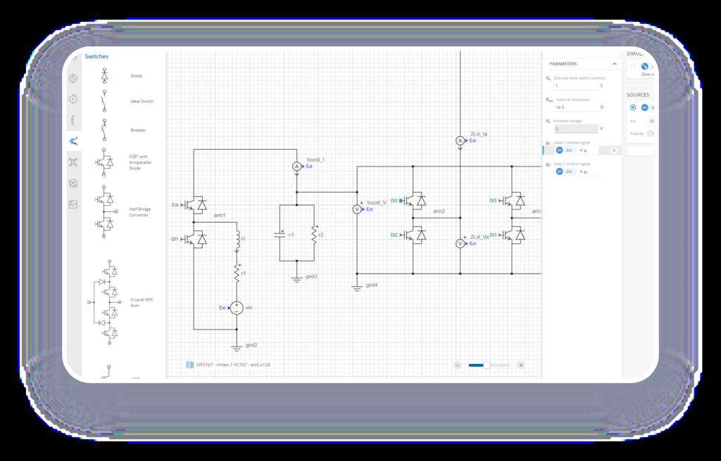 Electric circuit flow diagram