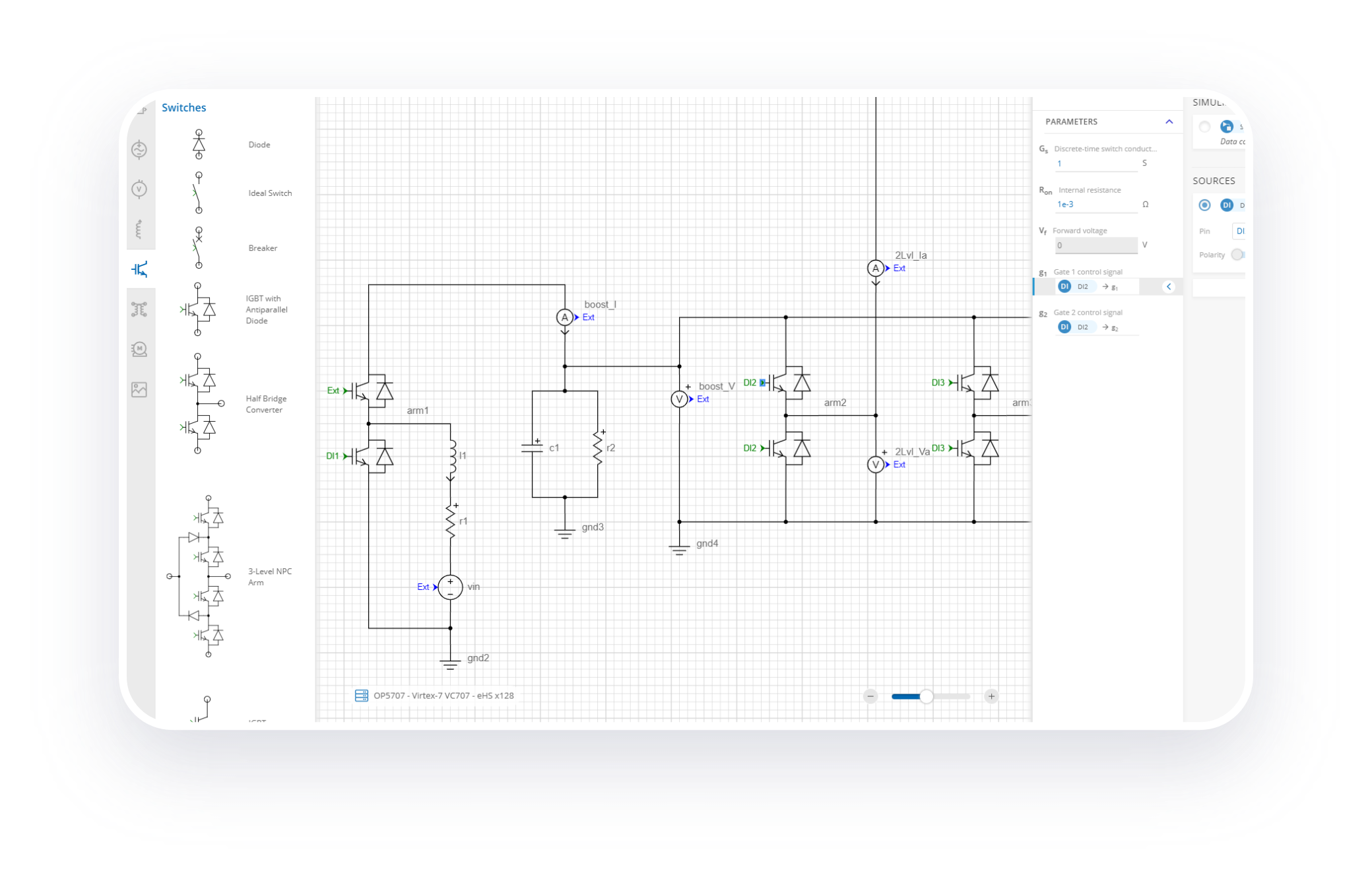 OPAL-RT Schematic Editor