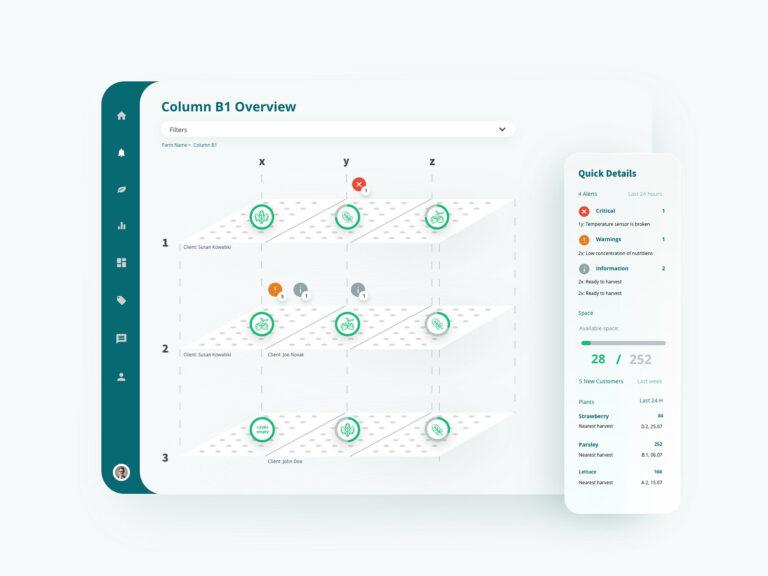 Hydroponic farm app