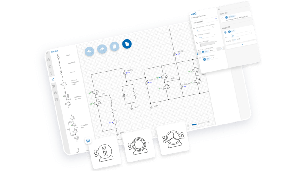 Schematic editor for electrical circuits modeling