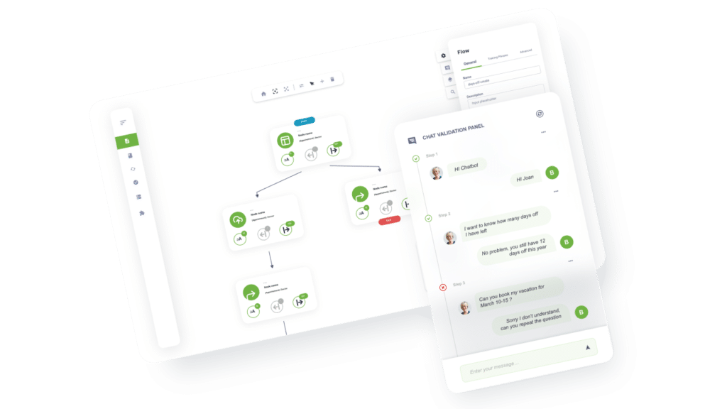 Chatbot automation flow for AI-powered chatbot platform